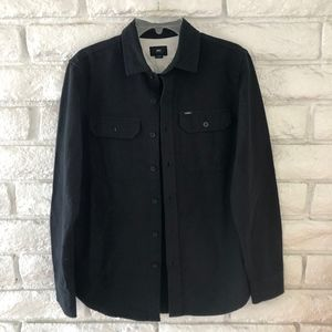 OBEY  Long Sleeve Button Up Black Shirt